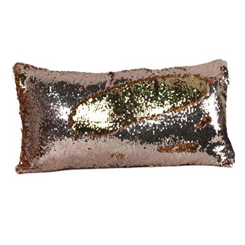 甲虫舌なワゴンTiean長方形スパンコールソファ枕カバークッションカバー