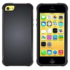 Suave TPU GEL Carcasa Funda Silicona Blando Estuche Caso de protección (para) Apple Iphone 5C / CECELL Phone case / / Grey Brushed Black White Minimalist /