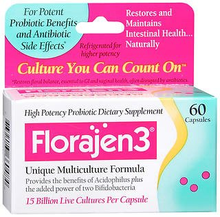 Florajen3 Dietary Supplement - 60 Capsules, Pack of 6