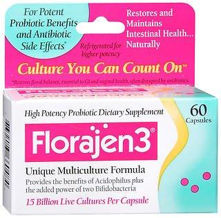 Florajen3 Dietary Supplement - 60 Capsules, Pack of 6 by Florajen