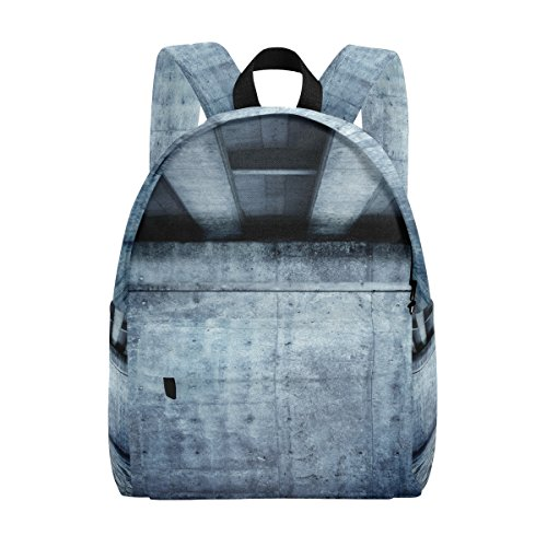 Braided Ceiling Light (School Backpack Daypack Lightweight Blue Room With Concrete Beam Ceiling Rucksack Canvas Book Bag for boys girls Kids Teens)