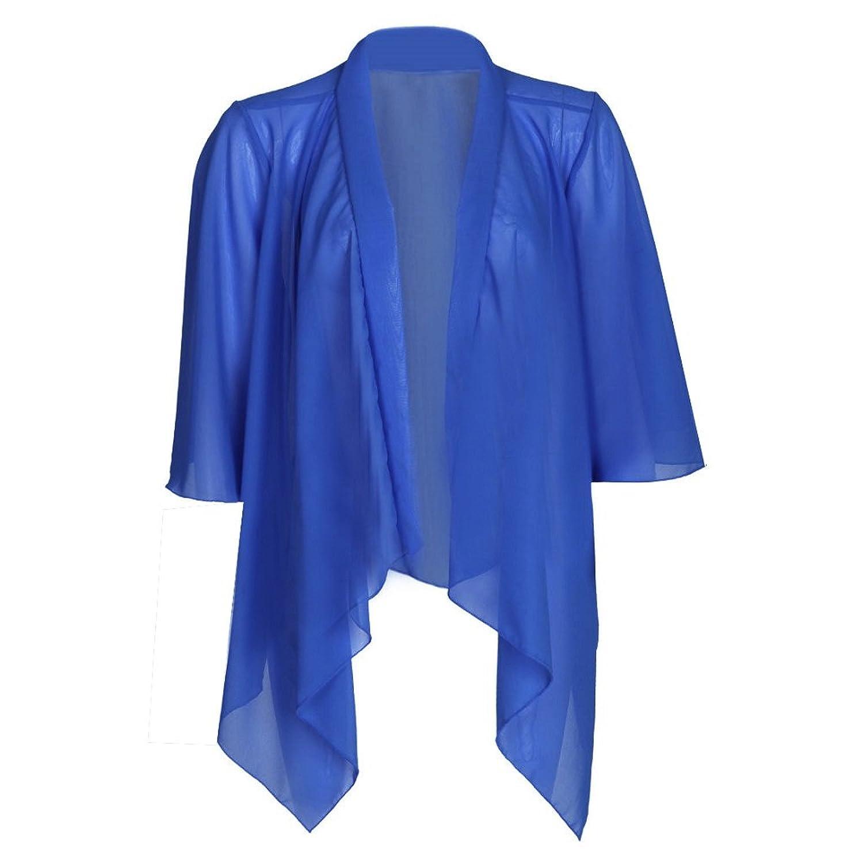 Online Fashion Store NEW ROYAL BLUE CHIFFON KIMONO WATERFALL ...