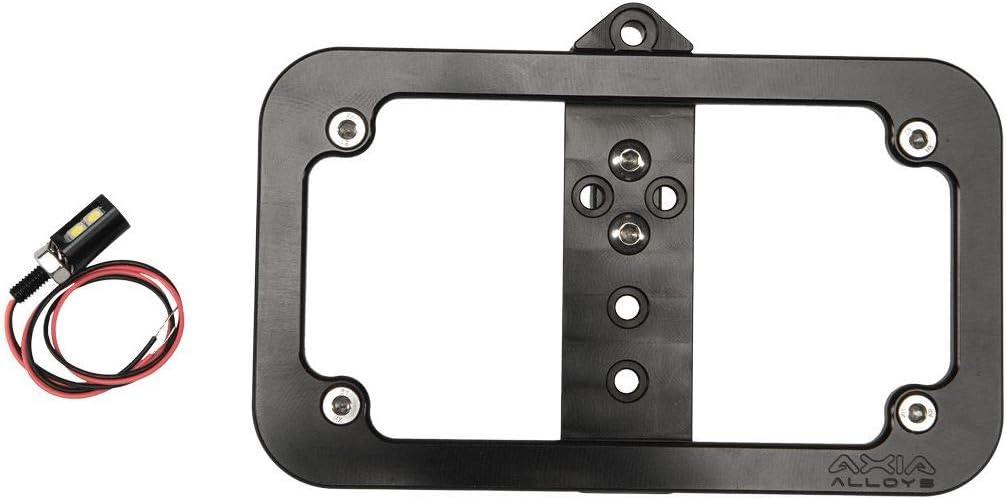 Axia Alloys Lighted License Plate Frame Bolt-On Black