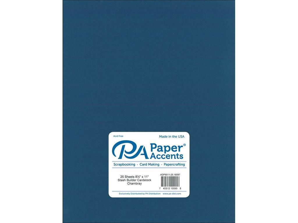 Paper Accents カードストック 65ポンド シャンブレー スタッシュビルダー 8.5 x 11インチ B079B9NV8J