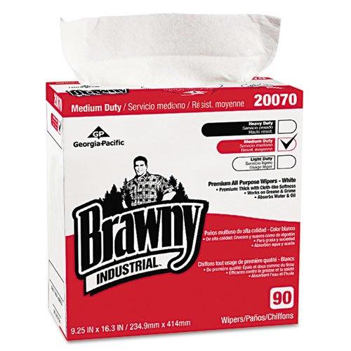 Brawny Industrial Medium-Duty Premium Wipes, 9 1/4 x 16 3/8