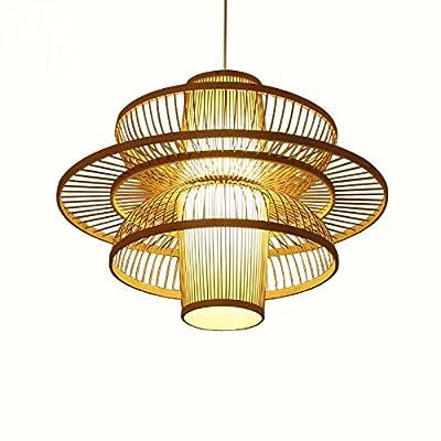 LUN YI Lustre en bambou du sud-est asiatique / personnalité créatrice minimaliste bambou rotin suspension lustre / lampe / lampe restaurant chinois / hôtel restaurant rétro lampe en bambou , bamboo