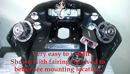 Harley Davidson Amplifier Mounting Bracket for 98-13 Road Glide with Rockford Fosgate PBR400X4D or PBR300X2 or PBR300X4