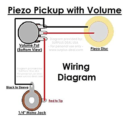 amazon com 27mm piezo pickup kit for cigar box guitars acoustic rh amazon com piezo bridge pickup wiring wiring piezo pickup with volume