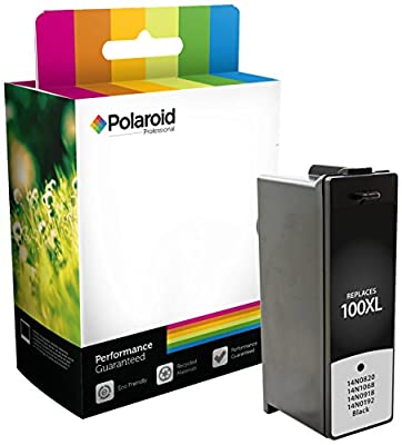 Polaroid Professional L-100BXLS-PRO Remanufactured Inkjet Cartridge Replacement for Lexmark 100XL (14N0820, 14N1068, 14N0918, 14N1092), Black Ink