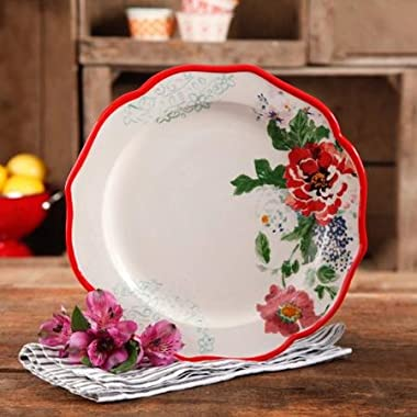 The Pioneer Woman Country Garden 10.5  Decorated Dinner Plates, Set of 4