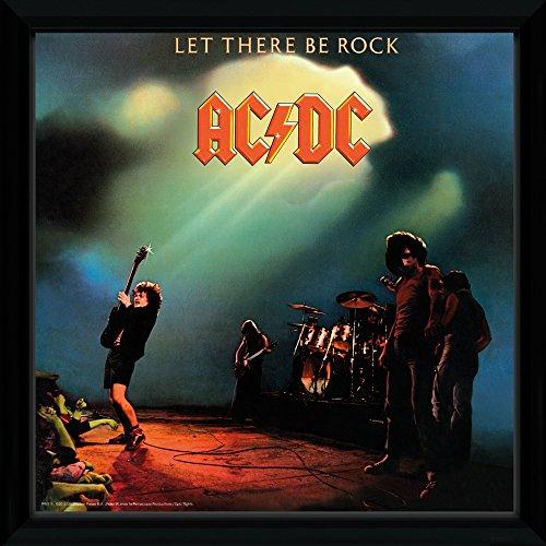 GB eye LTD, AC/DC, Let There Be Rock, Framed Album Cover, 30 x 30 cm, Wood, Multi-Colour, 52 x 44 x 3 - Rock Album Cover