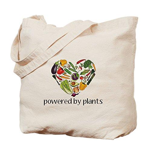 CafePress Vegetable Heart Natural Canvas Tote Bag, Cloth Shopping Bag ()