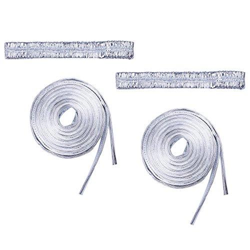 [iiniim Women's Metallic Leg Wraps Raves Dancing Music Festival Costumes Silver One Size] (Dance Festival Costumes)