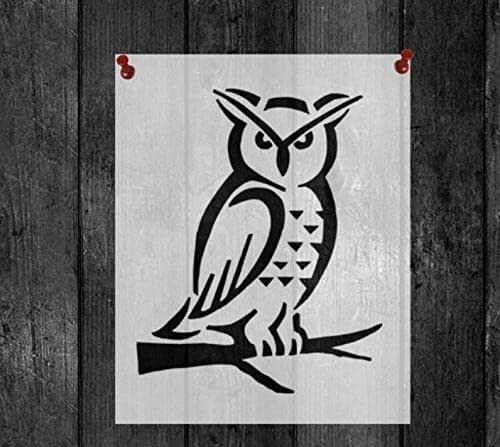 Amazon.com: Owl Reusable Stencil 8x11 Sheet: Handmade