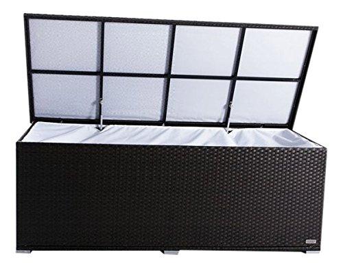 OUTFLEXX Kissenbox aus Polyrattan 204x94x75cm in braun