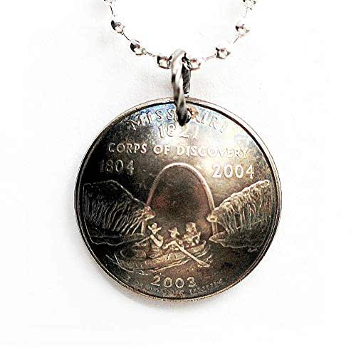 Missouri State Quarter Necklace