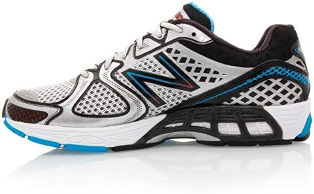 New Balance Zapatillas Running 1260 Plata/Azul EU 42 (US 8.5): Amazon.es: Zapatos y complementos