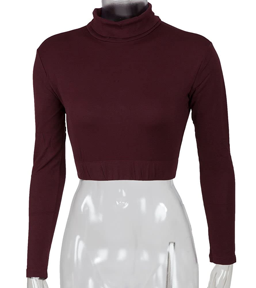 Cheer Fantastic Turtleneck Midriff Size X-Large Dark Maroon 00411-XLG-DKMR