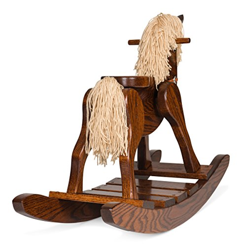Amish Made Wooden Rocking Horse For Toddlers And Kids