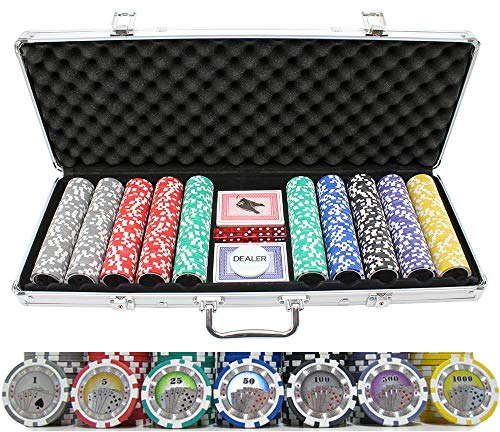 Versa Games 13.5g 500pc Casino Royale Poker Chip Set (Royale Case Casino Poker)