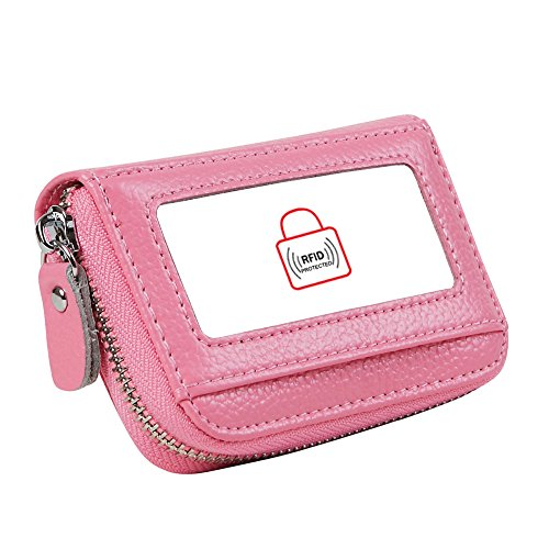 Womens RFID Blocking 12 Slots Credit Card Holder Leather Accordion Wallet