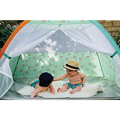 Pacific Play Tents 19001 Kids/Infants Under The Sea Cabana with Zippered Mesh Front, 60