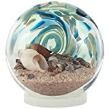 Blue Sea Globe - Hand-Blown Glass - 6'' Diameter Waterball