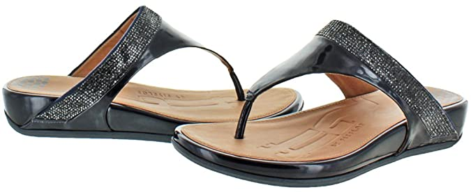0b03d492308d FitFlop Women s Banda Micro Crystal Toe Post Sandals Blue Size 8   Amazon.ca  Shoes   Handbags