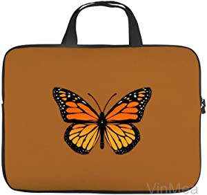 Neoprene Sleeve Laptop Handbag Case Cover Monarch Butterfly on Sienna Patchword Portable MacBook Laptop/Ultrabooks Case Bag Cover 12 Inch