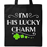 Inktastic - I'm His Lucky Charm-St. Patricks Day couple Tote Bag Black 2eee3