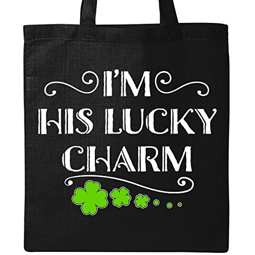 Inktastic - I'm His Lucky Charm-St. Patricks Day couple Tote Bag Black 2eee3 by inktastic
