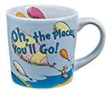 "Vandor 17061 Dr. Seuss ""Oh the Places You'll Go"" 12 oz Ceramic mug, Multicolor"