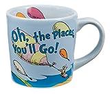 """Vandor 17061 Dr. Seuss """"Oh the Places You'll Go"""" 12 oz Ceramic mug, Multicolor"""