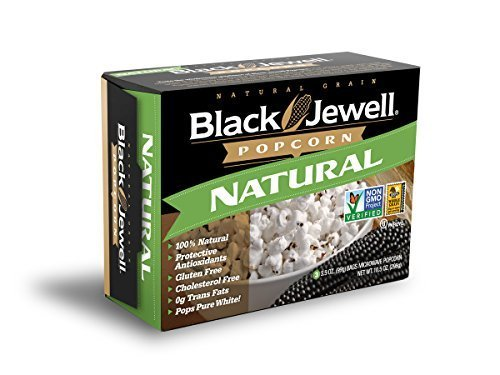 Black Jewell Premium Microwave Popcorn, Natural, 3-3.5oz bags (Pack of 6)