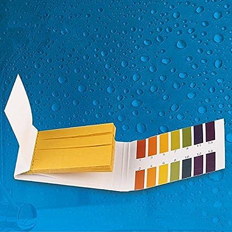 Papel de prueba de pH para tanque de peces recinto PH papel Meter Indicador phmeter Medidor Test: Amazon.es: Productos para mascotas