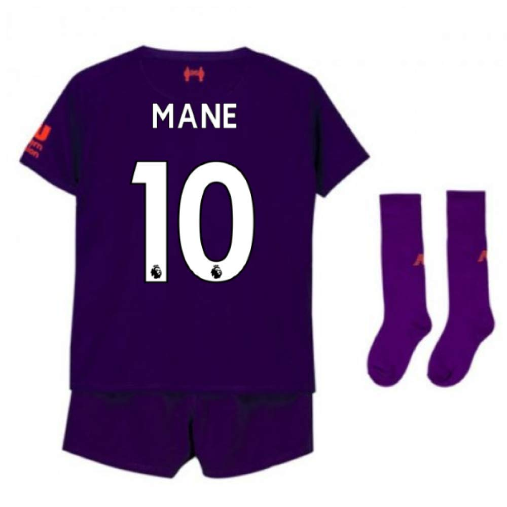 UKSoccershop 2018-2019 Liverpool Away Little Boys Mini Kit (Sadio Mane 10)