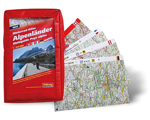Motorrad-Atlas Alpenländer 1 : 275 000 (Hallwag Führer und Atlanten) Landkarte – 20. Juli 2013 Hallwag Kümmerly & Frey 3828307906 Karten / Stadtpläne / Europa physisch