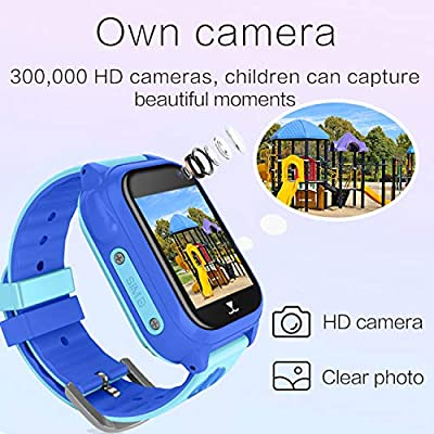 "Kids Smart Watch Phone with Free SIM Card GPS Tracker Watch for Girls Boys IP68 Waterproof Fitness Smartwatch Pedometer Camera Anti-Lost SOS Alarm Clock 1.54"" Touch Screen Child Watch"