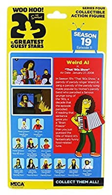 The Simpsons 25 Greatest Guest Stars Series 4 Weird Al Yankovic Collectible Action Figure Season 19 Episode 11