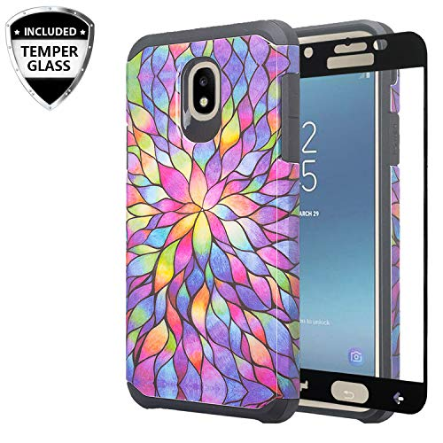 Galaxy J7 Star Case, J7 Refine /J7 V 2nd Gen /J7 Aura w/[Tempered Glass Screen Protector] GW USA Silicone Shock Proof Dual Layer Hard Case Cover for Samsung Galaxy J7 -