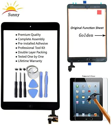 Ipad Mini Touch Glass Digitizer Screen IC Chip Home Button BLACK Tools Pry Bar