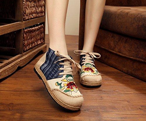 lacets Bleu ville pour Lazutom de à femme Chaussures qCPcIw4