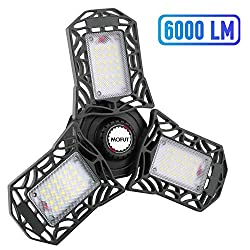 1. This led garage ceiling lights features LED technology with top quality diodes that produce 100 lumens per watt,total 6000 lumens ,CRI80+, 6000K-6500K daylight, no dark areas, ghosting or glare. 2. This garage lights are more energy efficien...