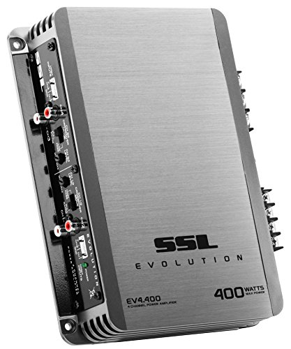 (Sound Storm EV4.400 Evolution 400 Watt, 4 Channel, 2 to 8 Ohm Stable Class A/B, Full Range Car Amplifier)