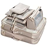 7 Piece Travel Packing Cube Value Set, Portable Lightweight Nylon Underwear Clothing Cosmetic
