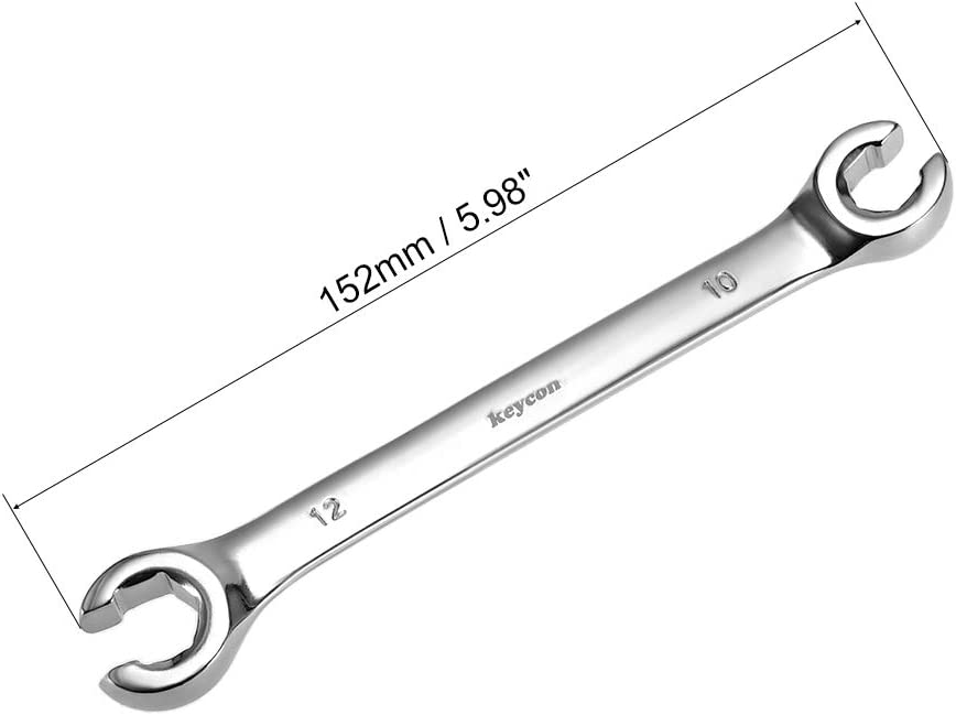 uxcell Flare Nut Wrench 10mm x 12mm Metric Double Open End