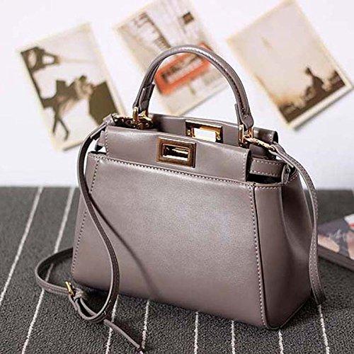 GUANGMING77 _ Borsa Borsetta Tracolla Borsa Mini Bag,Claret Dark grey