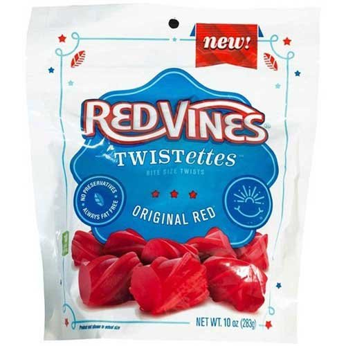 Red Vines Original Red Twistettes, 10 Ounce -- 12 per case.