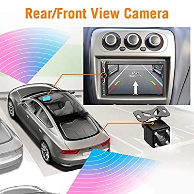 7 inch Double Din Digital Media Car Stereo Receiver,aboutBit Bluetooth 5.0 Touch Screen Car Radio MP5 Player Support Rear/Front-View Camera, AM/FM/MP3/USB/Subwoofer,Aux Input,Mirror Link: Car Electronics