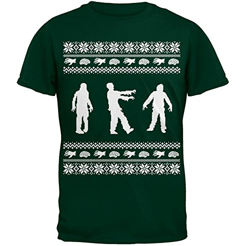 Zombie Ugly Christmas T-Shirt Adult